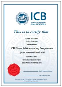 ICB FET Certificate: Bookkeeping (Certified Senior Bookkeeper)