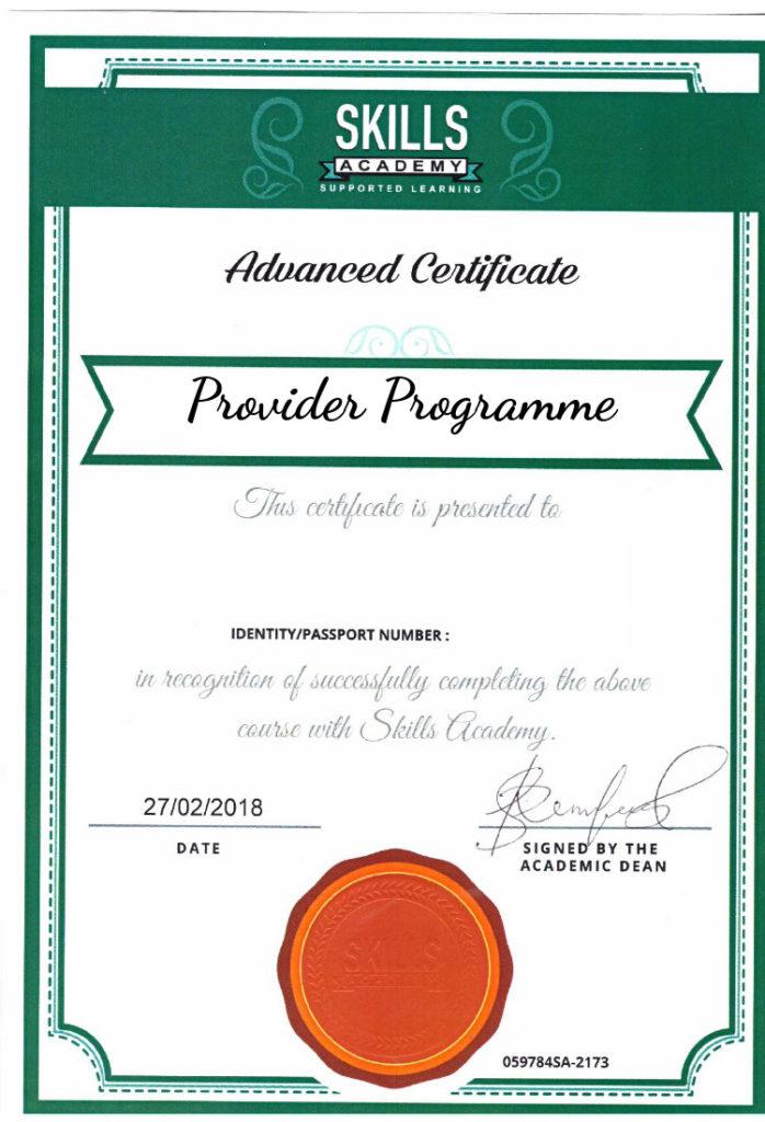 Provider Programmes