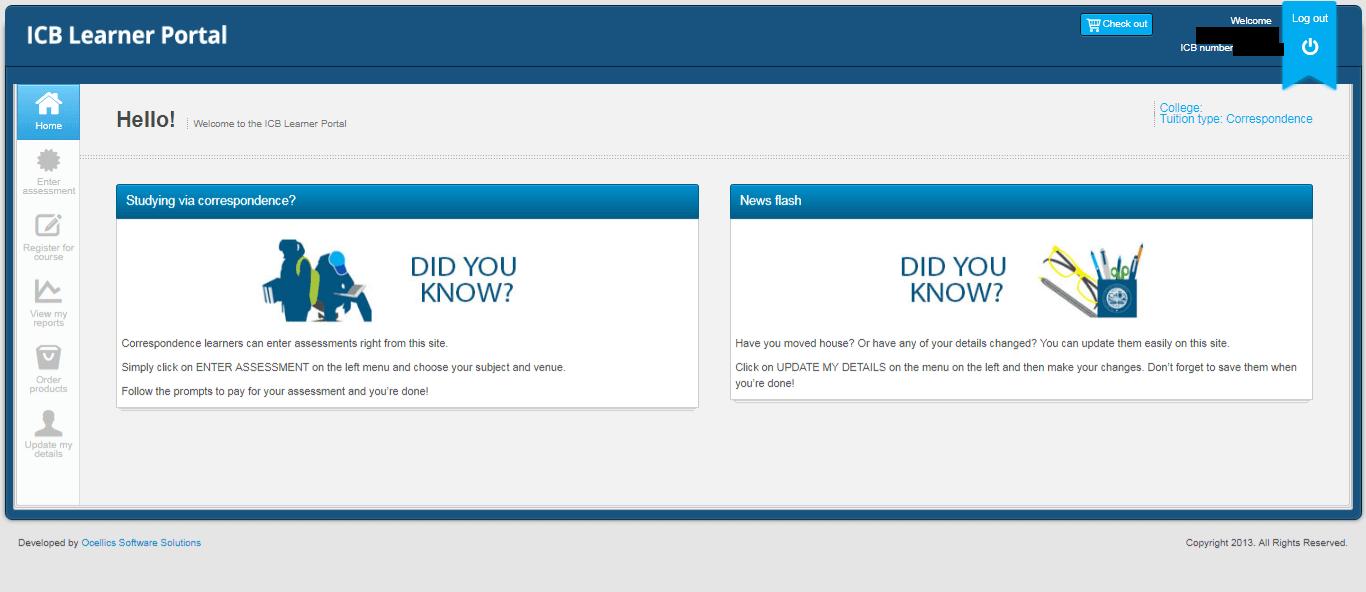 ICB Learner Portal 12