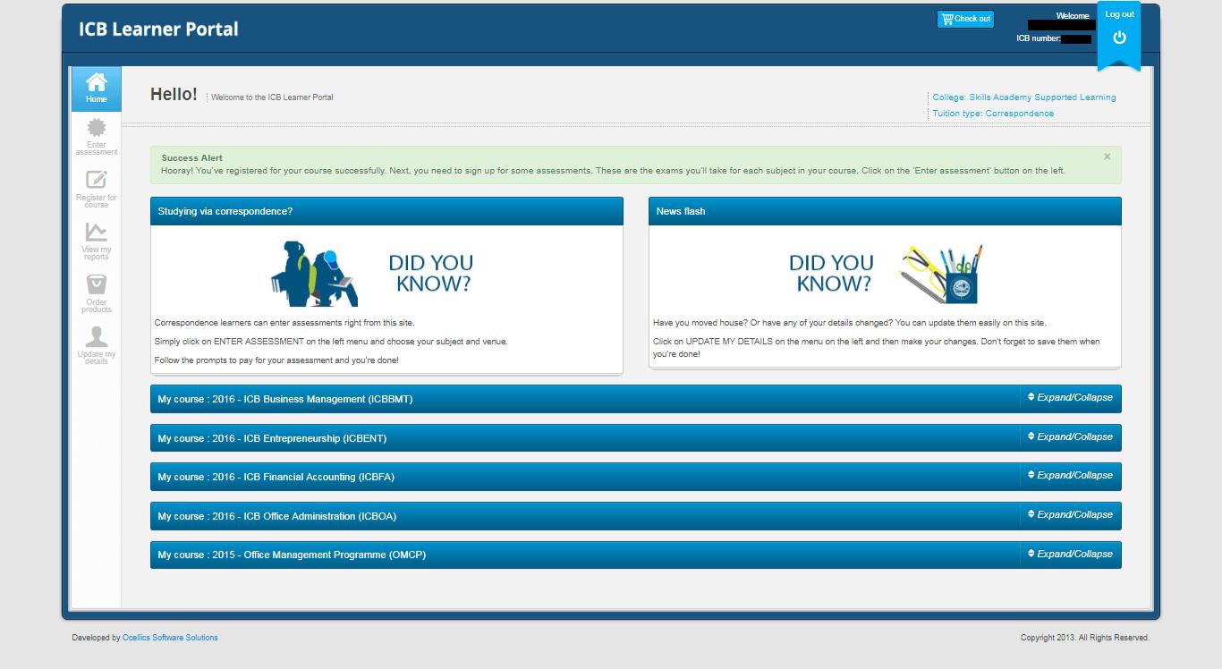 ICB Learner Portal 16