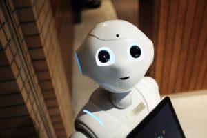 A white robot named Alex